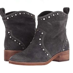 Dolce Vita Charcoal Gray Studded Ankle Booties